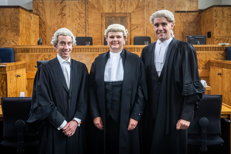 Richard Smith, Fiona Guy Kidd QC and Jono Ross, Southland Lawyers